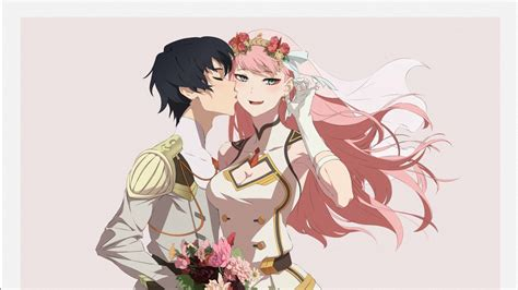 darling   franxx hiro    flower bouquet