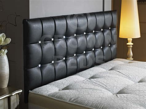 Black Leather Headboard With Diamonds beds 24hr
