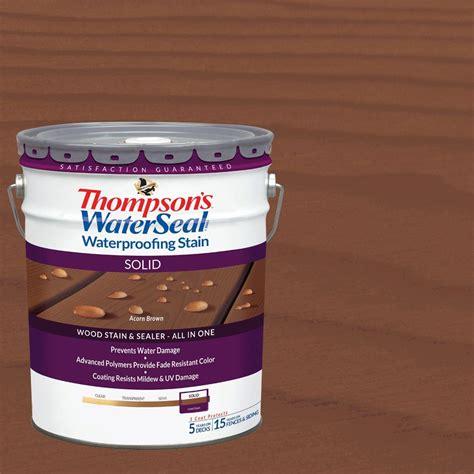 thompsons waterseal  gal acorn brown solid