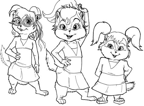Alvin And The Chipmunk Coloring Pages Alvin And The Chipmunks Coloring Pages Coloringsuite