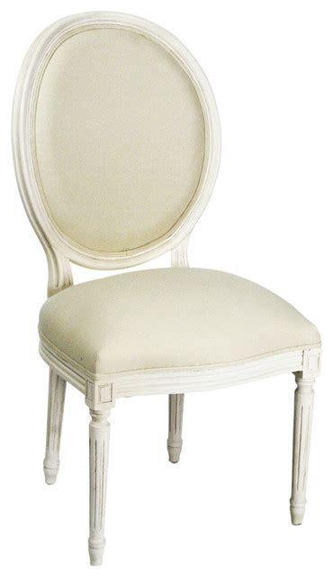 medallion side chair white antique white traditional