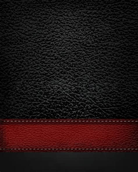 Black Leather Background Black Leather Background With Leather Vector