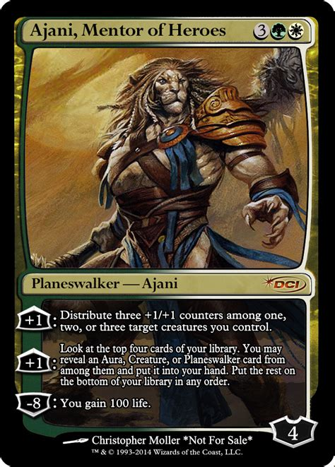 ajani mentor of heroes duel deck ajani holy magic mtg altered