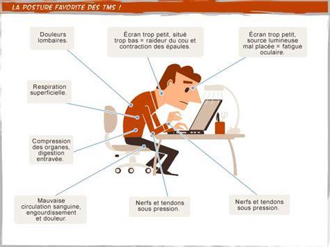 position au poste de travail travail tms postures bureau sante http www
