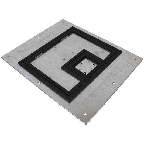 fsr floor boxes fl 500p fsr fl 500p plp blk c ul cover w 1 4 quot painted black