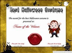 Best Costume Certificate Template