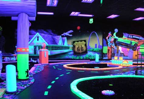 Black Light Mini Golf by Scene75 The Largest Entertainment Center In The Nation