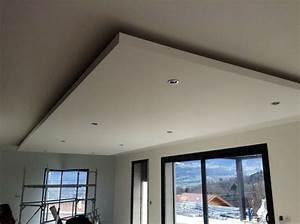 Pose D Un Faux Plafond En Ba13 : faux plafond en ba13 avec spots int gr s technique ~ Melissatoandfro.com Idées de Décoration