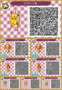 Animal Crossing New Leaf QR Codes Pokemon