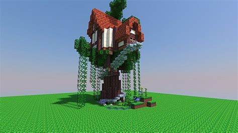 small tree house schematic minecraft map