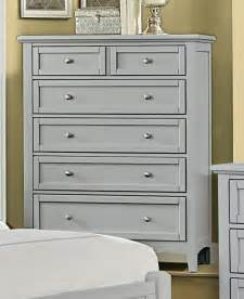 gray finish  drawer chest bedroom