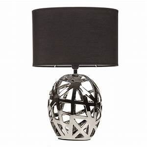 geometric cut out chrome table lamp With retro floor lamp the range