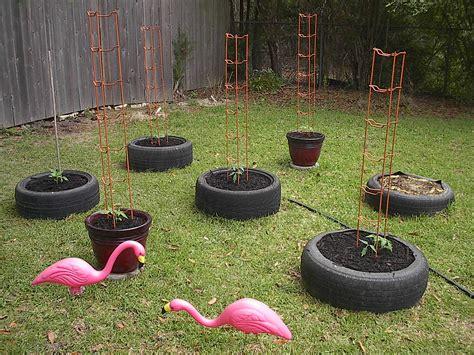 diy  tire garden ideas recycled backyard
