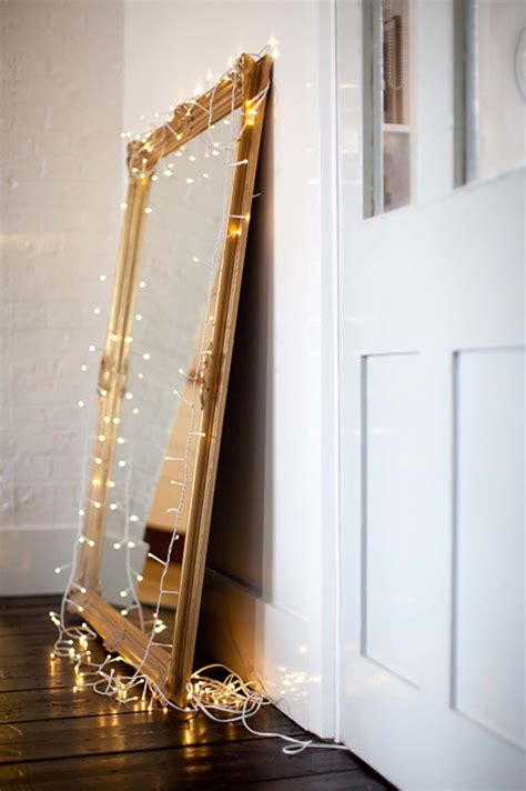 mirror with lights around 33 awesome diy string light ideas