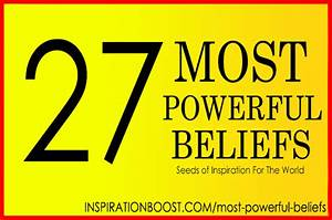 27 Most Powerful Beliefs | Inspiration Boost