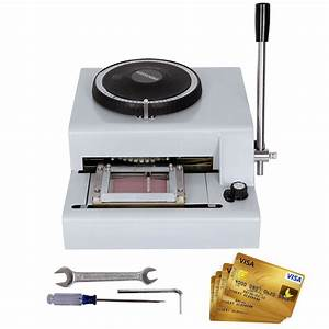 72 letters manual embosser machine credit card pvc vip With letter embossing machine