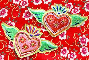 Tin Folk Art Heart Pins Things to Make and Do Crafts