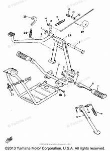 Yamaha Motorcycle 1968 Oem Parts Diagram For Stand Foot
