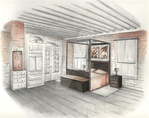 Perspective Of Bedroom By Tenaciousgirl13 On Deviantart