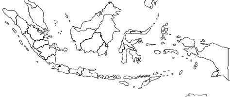 indonesia blank map