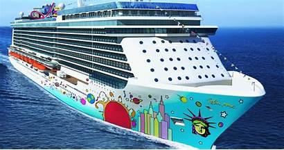 Cruise Norwegian Breakaway Ship Ships Water Line