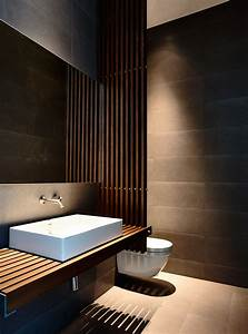 wood slats add texture and warmth to these homes With carrelage adhesif salle de bain avec tv led 32 blanc