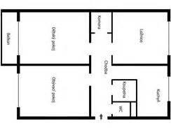 Půdorysy panelových bytů 3+1
