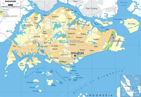 physical map  singapore ezilon maps