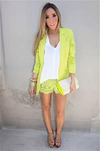Lime Green HAUTE & REBELLIOUS Blazers Lime Green HAUTE