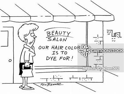 Beauty Cartoon Shops Cartoons Funny Salon Hair