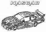 Coloring Nascar Race Cars sketch template