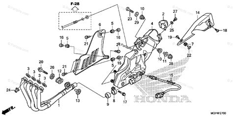 honda motorcycle 2013 oem parts diagram for exhaust muffler partzilla