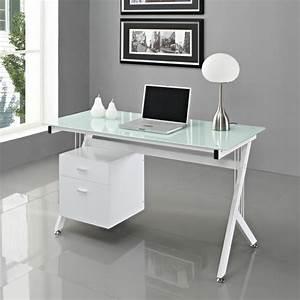 Schreibtisch Glas Schwarz : schreibtisch glas wei b rozubeh r ~ Whattoseeinmadrid.com Haus und Dekorationen