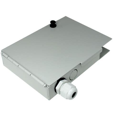 Box Fiber Ornamen 4 port ftth fiber termination box wall mount metal