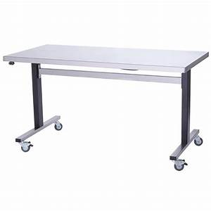 Parry Stainless Steel Adjustable Height Table Wide Manual