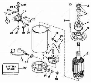 Evinrude 1991 60 - E60eleib  Electric Starter
