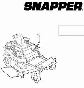 Snapper Lawn Mower 355zb2444 User Guide