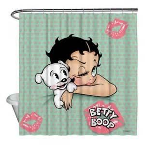 betty boop goodnight shower curtain 71x74