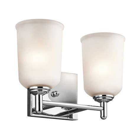 shop kichler lighting 2 light shailene chrome bathroom