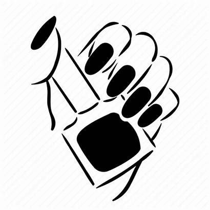 Manicure Nail Hand Polish Icon Fingernail Beauty