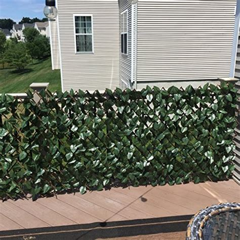 compass home expandable faux ivy privacy fence with lights compass home m50866 expandable faux ivy privacy fence