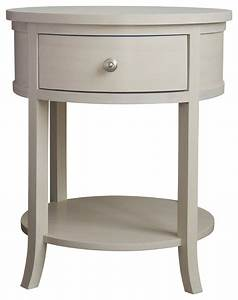 Carlisle Round Bedside Table - Transitional - Nightstands