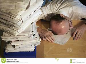 Overwhelmed By Paperwork Royalty Free Stock Image