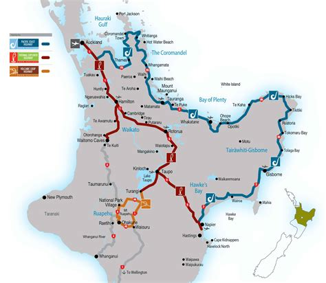 maps travel times explore central north island  zealand