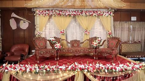 wedding stage decoration  flowers simple hd youtube