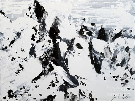 Abstract Black And White Jesus Painting by Alps In Black And White Painting By Lidija Ivanek Sila
