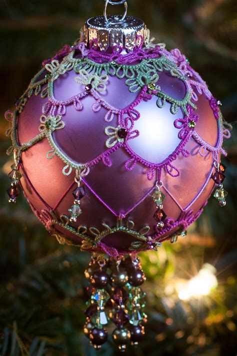 items similar to lace beaded christmas ornament needle