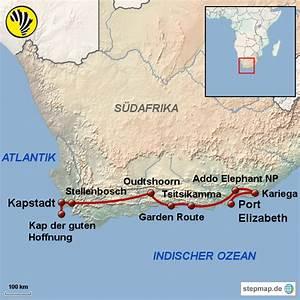 kapstadt und garden route von outback africa landkarte With katzennetz balkon mit kapstadt und garden route