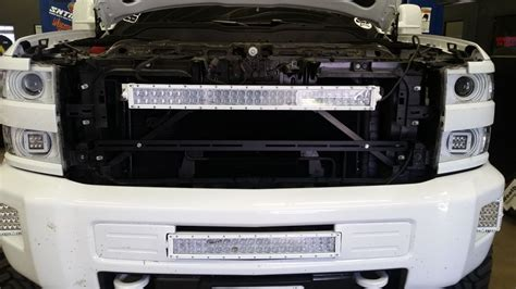 40 inch led light bar grille bracket 2014 2015