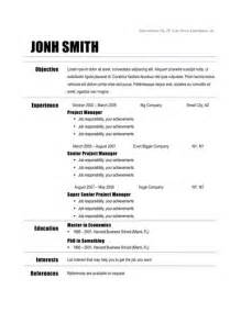sle of simple resume template free simple resume templates learnhowtoloseweight net